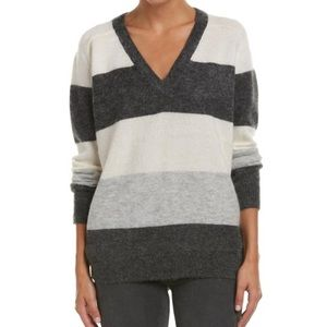Vince Mohair V Gray/Ivory/Charcoal Sweater